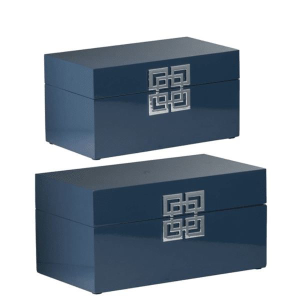 Two blue boxes