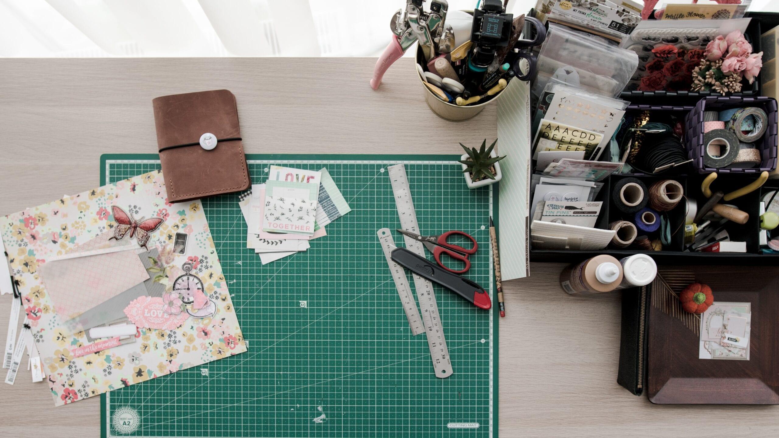 cutting mat and design materials